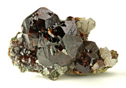 mineralia:  Andradite with Quartz from China