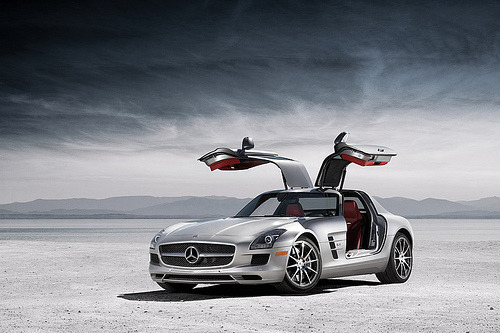 One of the better looking cars in recent years: Mercedes-Benz SLS AMG.