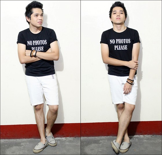 "No Photos Please!! (by Ranel James Del Castillo) Well as my shirt says, ""no photos please"" it's because I will be in a hiatus on lookbook for about a month and a half to give way for my studies and for my upcoming Nursing Licensure examination and my Med School Examination this coming December.. Need to really focus on studying.. Don't worry I'll be back after all this. Kicking aside all these drama, this is what i was wearing during the PORT 88: Ready, Set, SALE! MEGATENT Bazaar. I was supporting two of my closest friends Izza and Dani. Please support their online shops. Soleil Flats-facebook.com/pages/SOLEIL-flats/123166987775388  The Make Up Store-facebook.com/themakeupstore.izzayee"