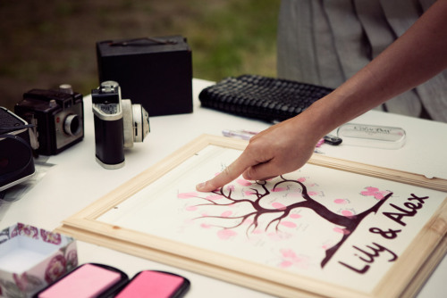 Such a lovely idea for a wedding guestbook! (via eye poetry - the photo blog of fine art photographer Irene Suchocki: Lily and Alex Getting Married)
