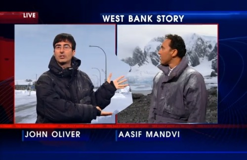 mydaywithd:  Adsif Madvi: Did you take some of my box? John Oliver: Historically, that has always been part of my box. Adsif: This is an illegal occupation!