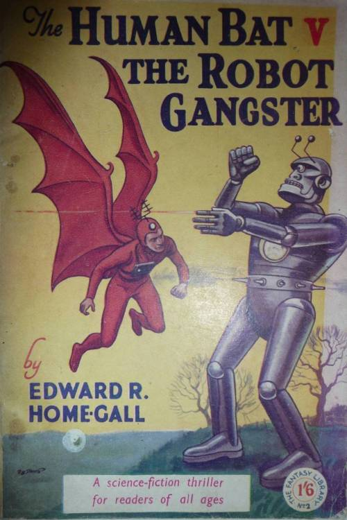 The Human Bat vs. the Robot Gangster.