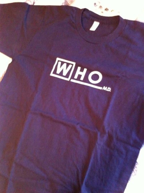 From the personal Nerdist Collection of Whovian Gear Item #427: Who M.D. shirt.