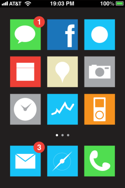 Funny GUI design I made as a part of an iPhone5 concept I did with my friend Gianluca Antonini