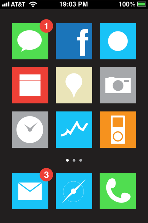 vizualize:  Funny GUI design I made as a part of an iPhone5 concept I did with my friend Gianluca Antonini  iOS Metrotizado