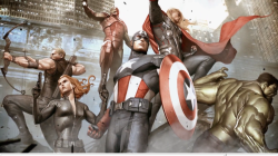 Adi Granov Concept Art for The Avengers