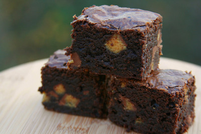 celebratewithcake:  peanut butter cup brownies by the boastful baker on Flickr.