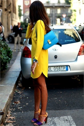 womenswear. color blocking.
