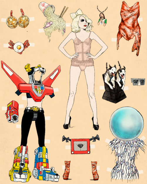 laughingsquid:  A Collection of Incredibly Bizarre Pop-Culture Paper Dolls