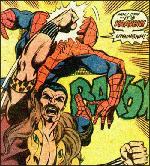 HOLY COW — IT'S KRAVEN! UNNNGNH!