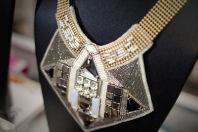 accessory of the day. deco inspired statement necklace by buba london.