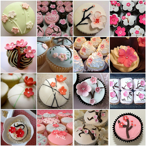 thecakebar:  Cherry Blossom Cupcakes! (video flower tutorial) These are really cute of course. This is a lil more intermediate than my other posts because you'll need to buy some flower molds (where to buy them is on the tutorial link) but don't you think it's totally worth it? I do! Enjoy! ~~~~~~~~~~~~~~~~~~~ * Tutorial Here (VIDEO) need help? contact me @thecakebar I love to help!