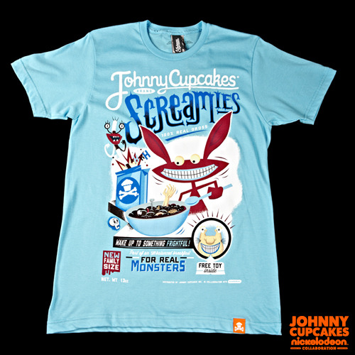 "Show your support for the Johnny Cupcakes x Nickelodeon collaboration by reblogging your favorite shirt from the release! When you reblog, make sure to add the tag, ""JCxNICK"" and you will be entered into our sweepstakes to win a Johnny Cupcakes x Nickelodeon collaboration t-shirt of your choice. The sweepstakes will conclude at midnight (EST) on September 22nd, and 5 winners will be chosen at random. Winners will be announced on the Tumblr page and contacted for shirt preference and size. Good luck!"