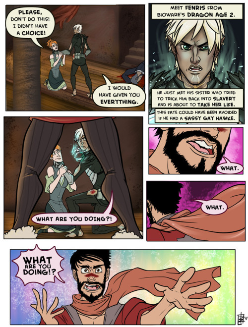 jakface:  Sassy Gay Hawke - Fenris Edition - PART 1 A long time coming. Abaskdjasglkas. 2nd page will be along over the next day or so! :} (Also, again thanks to poupon for the marvelous dick brush, god I love that thing)