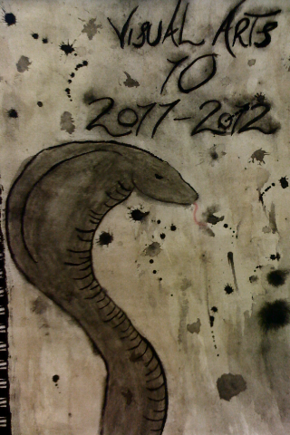 title page for my sketch book. cobra starship snake btw.