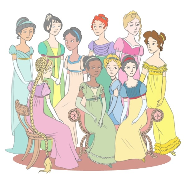 future-sarah:  Drawing Disney Princesses + Watching Jane Austen Movies = This