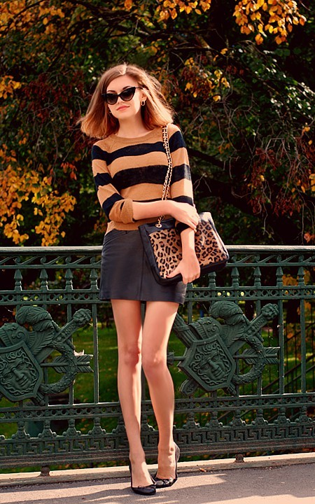 couturecourier:  This is a cute outfit and those sunnies are super cute! (via pinterest)