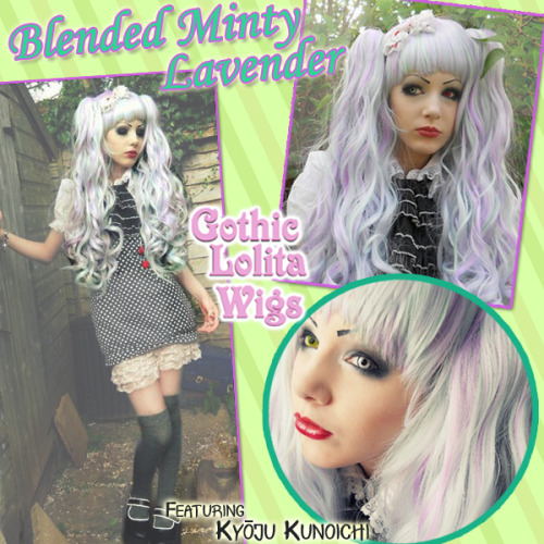 **BLENDED SERIES - MINTY LAVENDER** Kyōju Kunoichi is a master at making unconventional looks strikingly beautiful as she fully demonstrates here modeling our Blended Minty Lavender lolita wig. Strands of mint and lavender are blended in this wig to form a blend that's guaranteed to make your next outfit a hit.  View Our Entire Blended Series Here: http://bit.ly/i5qtuW Model: Kyōju Kunoichi