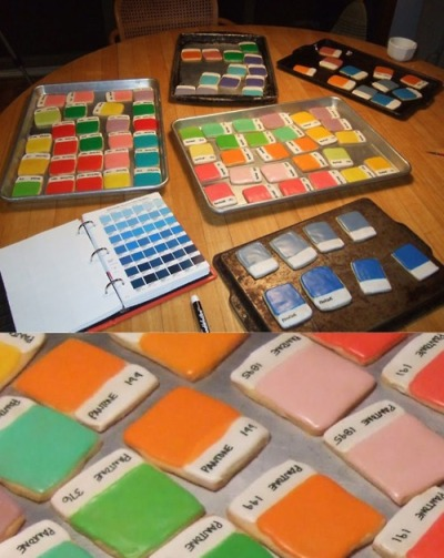 momovida:  This reminds me of someone. Pantone cookies!!