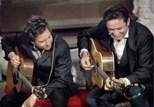 Johnny Cash and Bob Dylan, 1969