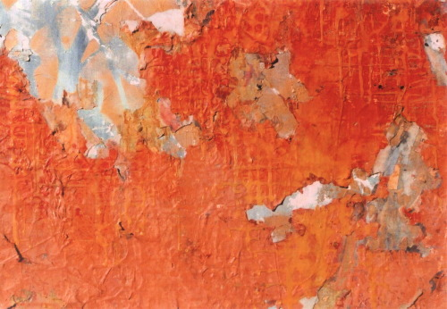 Kevin Regan Mullin  East Roman Wilderness mixed media on canvas, detail, 48 x 48""