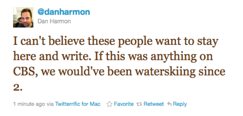 Celebrity Tweet of the Day Dan Harmon has feelings about CBS