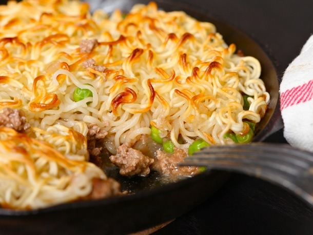 Ramen Hacks: 30+ Easy Ways to Upgrade Your Instant Noodles  pictured: Ramen-topped shepherd's pie  more here (college staple, much?)
