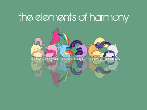 cottonboon:  Elements of Harmony wallpaper.  Art © me.  My Little Pony © Hasbro.