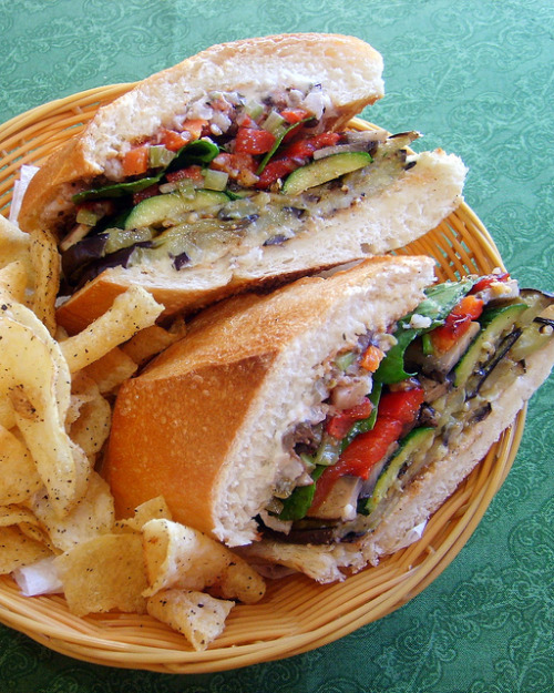 afickleheartandabitterness:  The New Muffuletta Sandwich by Chef Tanya, Leafygreensandme.com on Flickr.