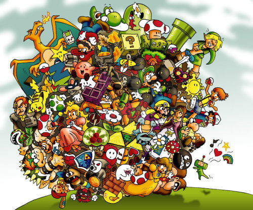 Nintendo Katamari (via Nintendo Katamari by *TomPreston on deviantART)