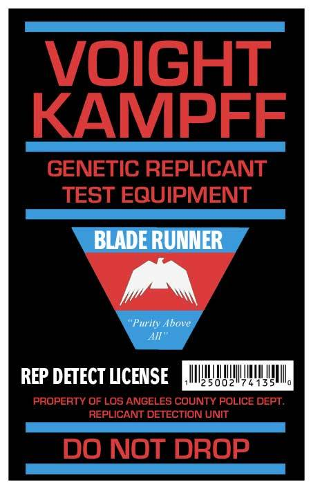 1187hunterwasser:  Voight Kampff Blade Runner License.