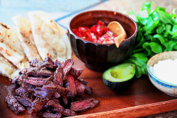 Chipotle Skirt Steak Tacos with Lime, Salsa, and Avocado Recipe
