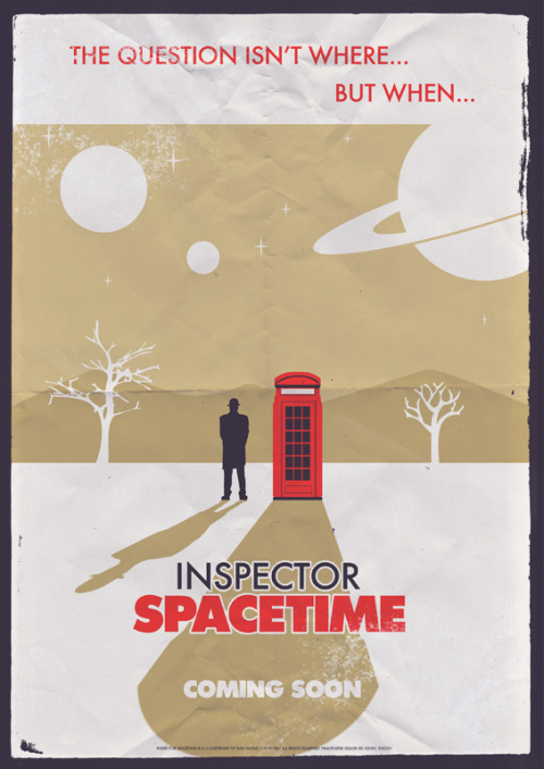 "cristinamoreno:  weareallfairytales:  ""Inspector Spacetime - 1962"" by ameba2k   On today of all days. I love fandom."