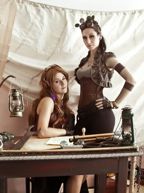 "steampunkcaged:  ""Steampunk: Sky Pirates"" by Shappi on deviantArt"