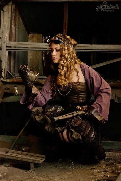 "steampunkcaged:  ""Discoveries"" by Coleria ~(@)~ She's a really pretty model. :)"