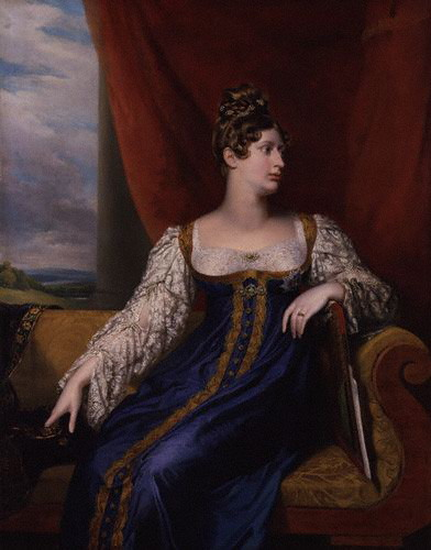 George Dawe. Princess Charlotte Augusta of Wales. 1817. Oil on canvas. National Portrait Gallery. London, UK.