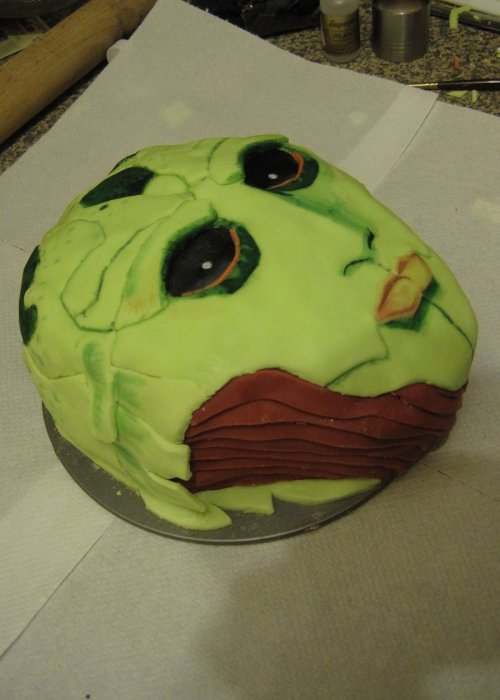 notoriouscupcakes:  thane mass effect cake  Holy shiiiiiit!