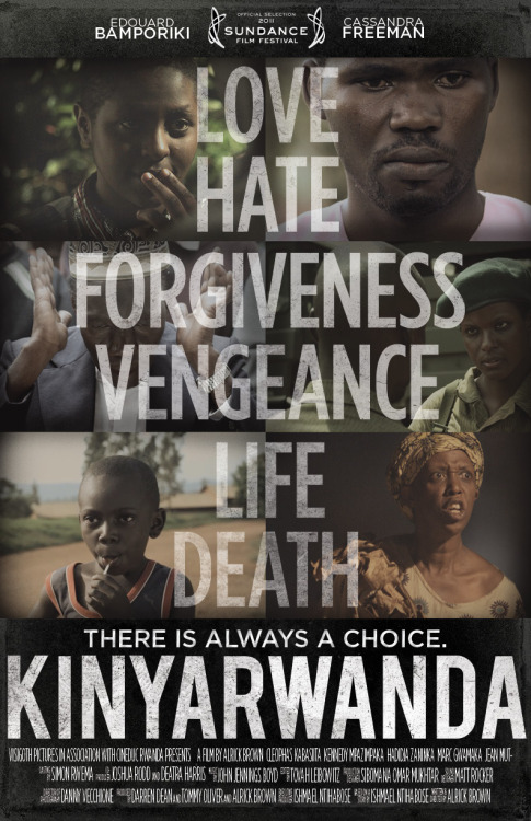 fyeahafrica:  The Story of Kinyarwanda During the Rwandan genocide, when neighbors killed neighbors and friends betrayed friends, some crossed lines of hatred to protect each other. At the time of the 1994 Rwandan genocide, the Mufti of Rwanda, the most respected Muslim leader in the country, issued a fatwa forbidding Muslims from participating in the killing of the Tutsi. As the country became a slaughterhouse, mosques became places of refuge where Muslims and Christians, Hutus and Tutsis came together to protect each other. KINYARWANDA is based on true accounts from survivors who took refuge at the Grand Mosque of Kigali and the madrassa of Nyanza. It recounts how the Imams opened the doors of the mosques to give refuge to the Tutsi and those Hutu who refused to participate in the killing. KINYARWANDA interweaves six different tales that together form one grand narrative that provides the most complex and real depiction yet presented of human resilience and life during the genocide. With an amalgamation of characters, we pay homage to many, using the voices of a few. See The Trailer