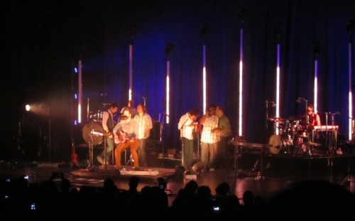 bon iver at the gibson amphitheater 9/20taken during skinny love :)