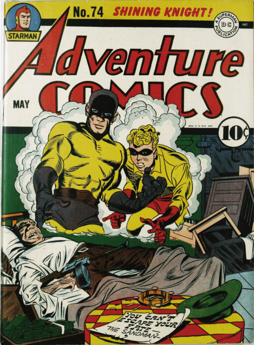 comicbookcovers:  Adventure Comics #74, May 1942, cover by Joe Simon and Jack Kirby
