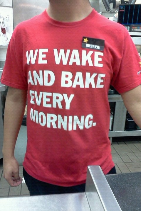 4oounceoffreedom:  The carls jr uniform lol