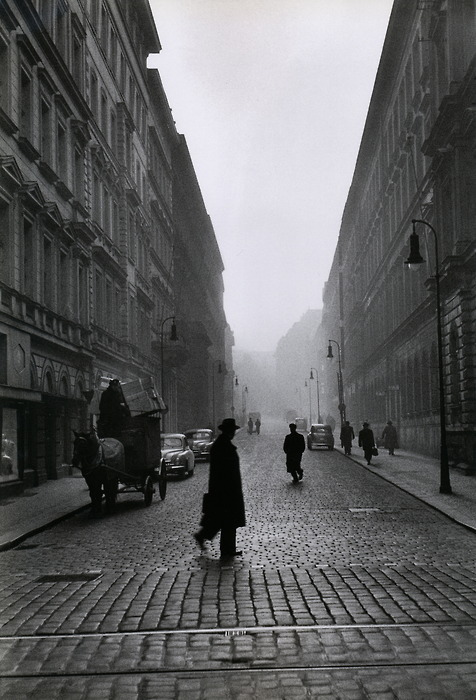 liquidnight:  René Burri Cobbled Street Prague, 1956 [via Le Clown Lyrique]