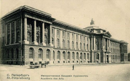 The Imperial Academy of Arts in 1912, Saint Petersburg, via archimaps