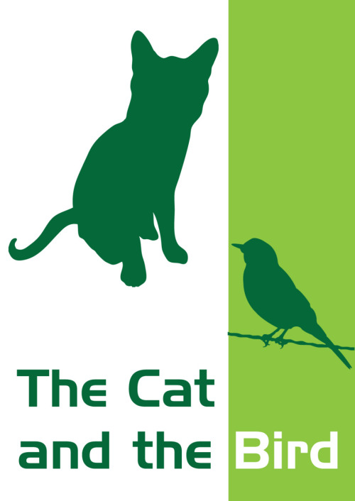 Day 116 of 365 ' The Cat and The Bird ' By Eddie MaloneI made this due to a postcard I wrote.