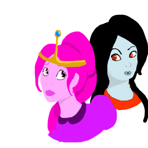 Not my finest moment but here you go.Princess Bubblegum and Marceline from Adventure Time drawn in my style that is kinda a mixed up between Disney and dreamworks and yeah.. Alot like that.Ehrm. it made only with a computer mouse from scratch to this!And I used Paintool sai. ;)Because its awesome when i draw with the computer mouse. HAVE FUN PEOPLE!