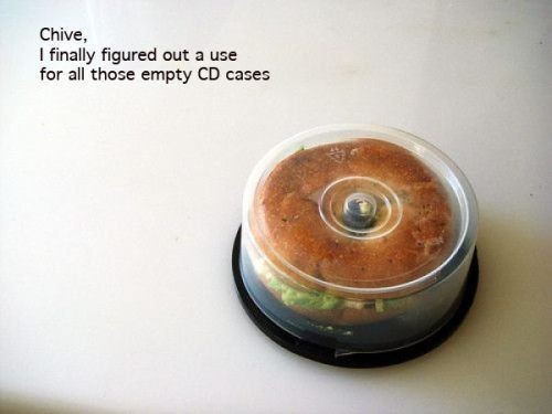 acrazyobsession:  Empty CD/DVD cases!! Genius!