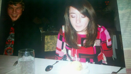 My birthday four years ago. So young, so green. Just a little college freshman with the world opening up in front of her.  Four years later and I'm doing alright. Fantastic even.