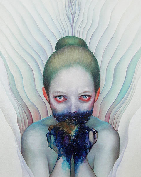 darksilenceinsuburbia:  Jacqueline Gallagher. http://www.paintdead.com/