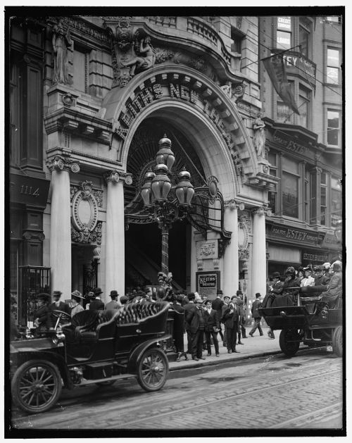 The entrance to Keith's Theatre, Philadelphia, via archimaps