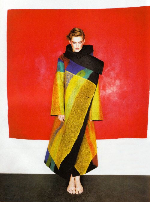 somethingvain:  Stella Tennant wearing Issey Miyake by Michael Thompson for Vogue Paris December 1997